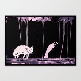 Black Riding Hood - Caperucita Negra Canvas Print