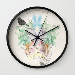 Au Printemps Wall Clock