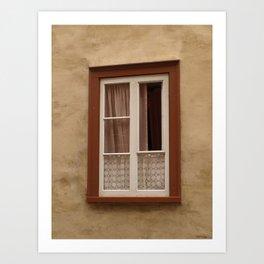 Window in a brown wall Art Print