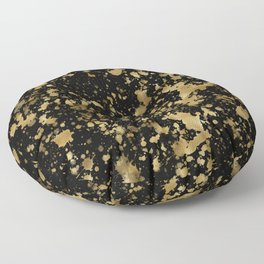 Black & Gold Splash Floor Pillow