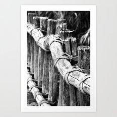 wooden bridge Art Print
