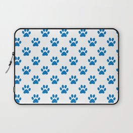 cat paw prints in blue Laptop Sleeve