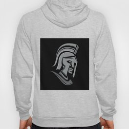 Spartan Warrior Head Metallic Icon Hoody