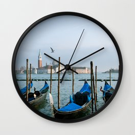 Venice, Italy Boats Wall Clock