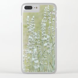 White Lavender 2 Clear iPhone Case