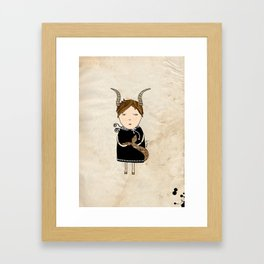 Capricorn Girl Framed Art Print