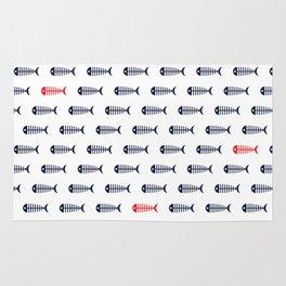 fish pattern/light Rug