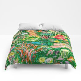 It's a sea green world Comforters