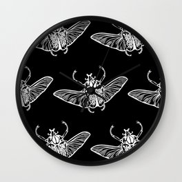 Goliath Beetle in White Wall Clock