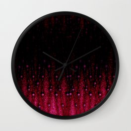 Abstract black and red pattern. Wall Clock