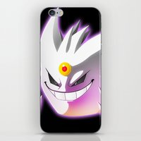 gengar iPhone & iPod Skins featuring Mega-Gengar by R-no71