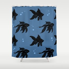bubbly fish Shower Curtain