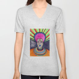 queen etnic pop Unisex V-Neck