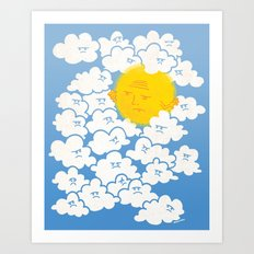 Cloud Control Art Print