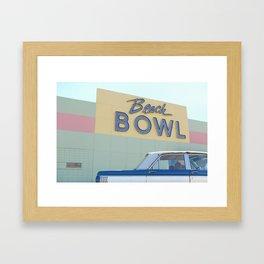 Beach Bowl Framed Art Print