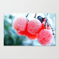 frozen Canvas Prints featuring Frozen by Antonia Elena