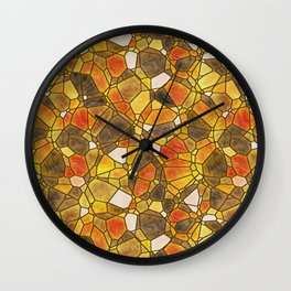 stained glass mosaic Wall Clock