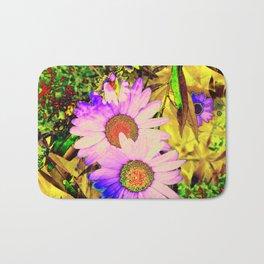 Hippy Power Neon Flowers Series Bath Mat