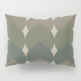 Deco Leaves in Olive Green Pillow Sham
