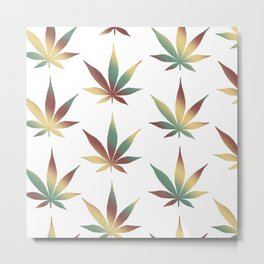 Rasta Leaves Metal Print