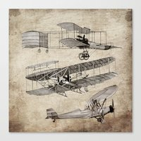 airplanes Canvas Prints featuring airplanes by Кaterina Кalinich