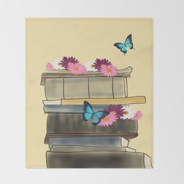 Books and Butterflies - An Introverts Dream Throw Blanket