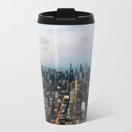 Chicago aerial view Travel Mug
