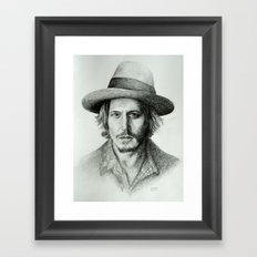 Johnny Deep Framed Art Print