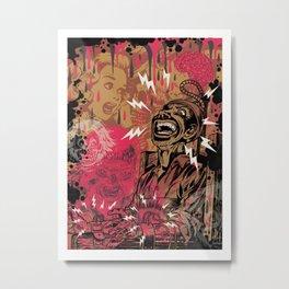 SHOCKING TERRORS Metal Print