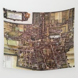 Replica city map of The Hague 1649 Wall Tapestry