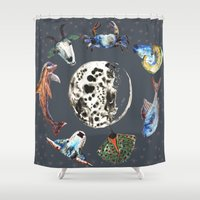 cosmic Shower Curtains featuring Cosmic by AnnaW