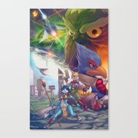 starfox Canvas Prints featuring Starfox Universe by Robaato