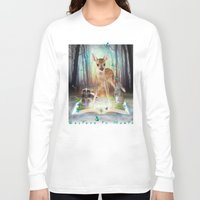 roald dahl Long Sleeve T-shirts featuring Believe In Magic • (Bambi Forest Friends Come to Life) by soaring anchor designs