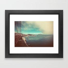 San Francisco Bay from Golden Gate Bridge Framed Art Print