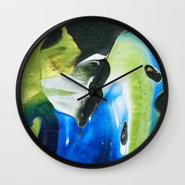 Abstraction - Green and green - by LiliFlore Wall Clock
