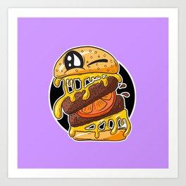 Fast Food FRENZY - Cheezy Sally Art Print