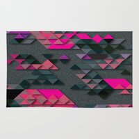 the thing Area & Throw Rugs featuring One Thing by Bakmann Art