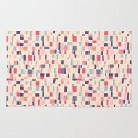 grid Area & Throw Rugs featuring grid by Marta Olga Klara
