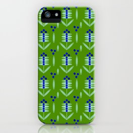 Blueberry pattern - By Matilda Lorentsson iPhone Case