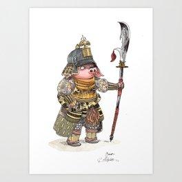Cochon Samouraï Art Print
