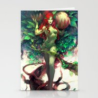 poison ivy Stationery Cards featuring Poison Ivy by Hai-ning