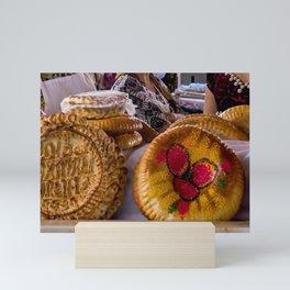 National uzbek bread - Samarkand, Uzbekistan Mini Art Print