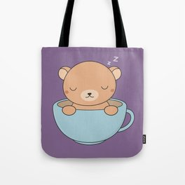 Kawaii Cute Coffee Brown Bear Tote Bag