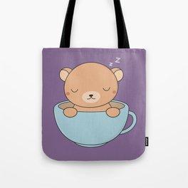Kawaii Cute Coffee Brown Bear Tote Bag