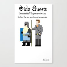 Side Quests Canvas Print