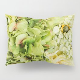 Green Flowers Pillow Sham