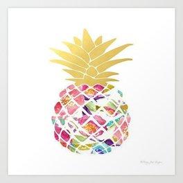 Preppy Pineapple Art Print