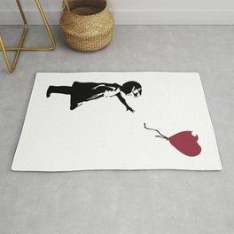 Girl With Red Balloon, Banksy, Streetart Street Art, Grafitti, Artwork, Design For Men, Women, Kids Rug