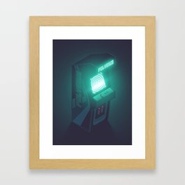 Polybius Arcade Game Machine Cabinet - Isometric Black Framed Art Print