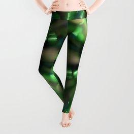 Green Sparkle Burst Leggings